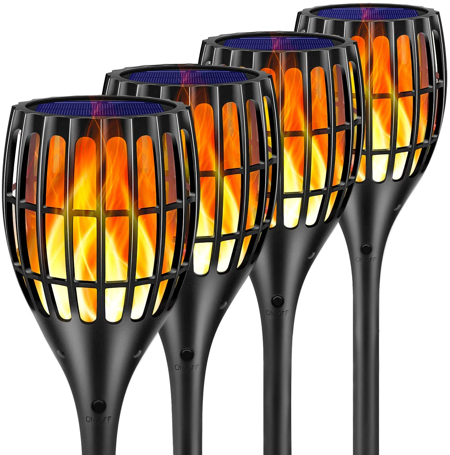 Four Ollivage torch-style solar lights, best solar lights