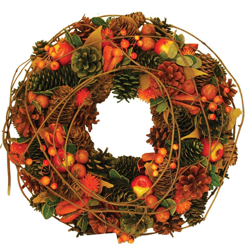 fall wreaths indoor outdoor autumn decor apples berries pinecones
