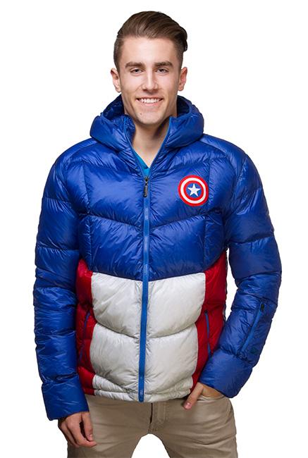 captain america down jacket