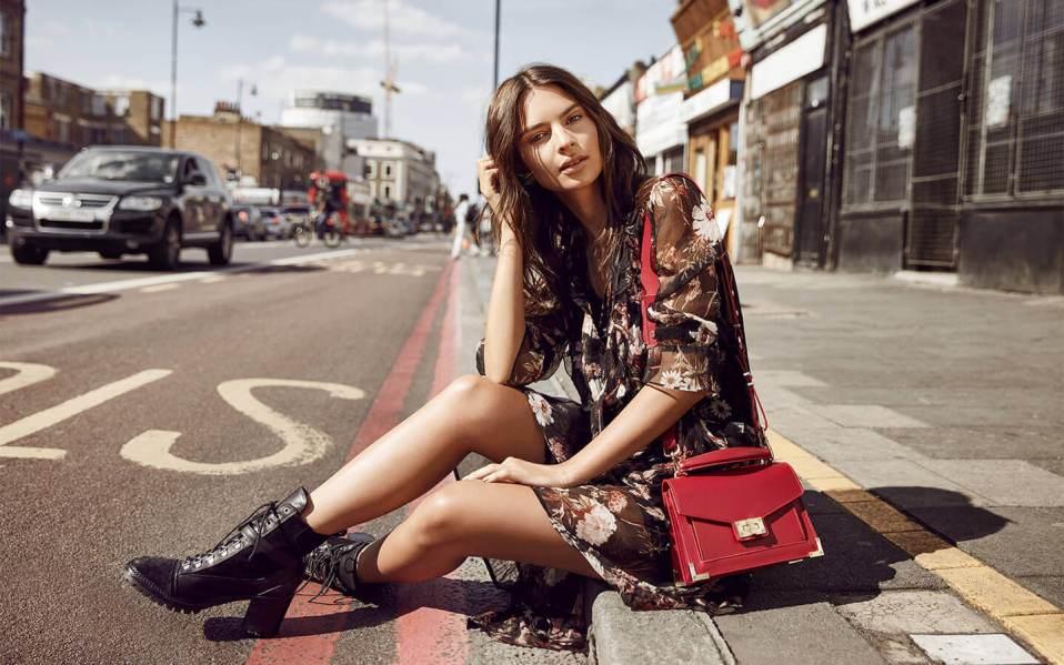 Emily Leather Handbag The Kooples