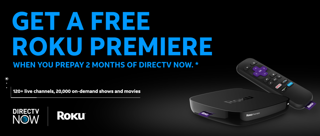 directv now free roku deal