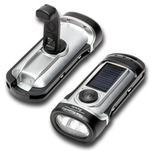 Flashlight 2-Pack Chargeable By Hand Crank or Solar