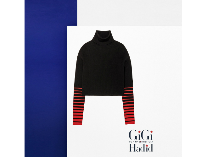 Gigi Hadid x Tommy Cropped Sweater