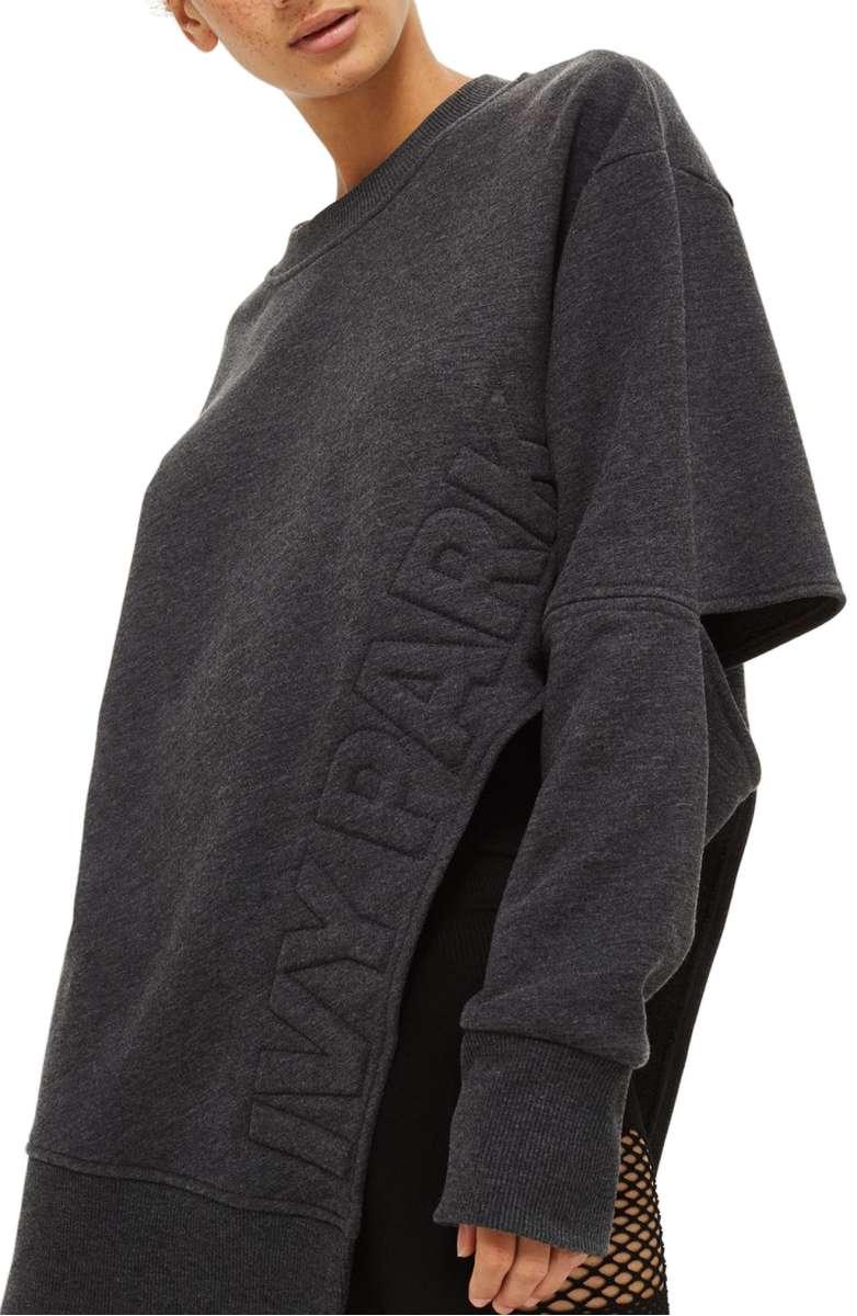 Ivy Park Logo Embossed Sliced Sweatshirt