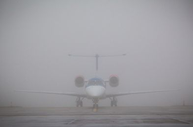 Thick fog airport delays, Manchester, Britain - 09 Jan 2013