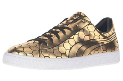 gold puma sneakers