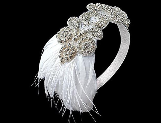 Flapper Style Bridal Headband