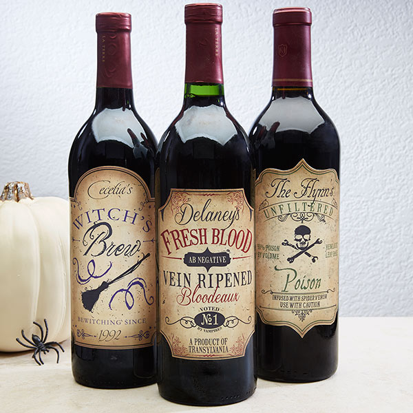 Halloween decorations 13 ways to personalize decor wine bottle labels