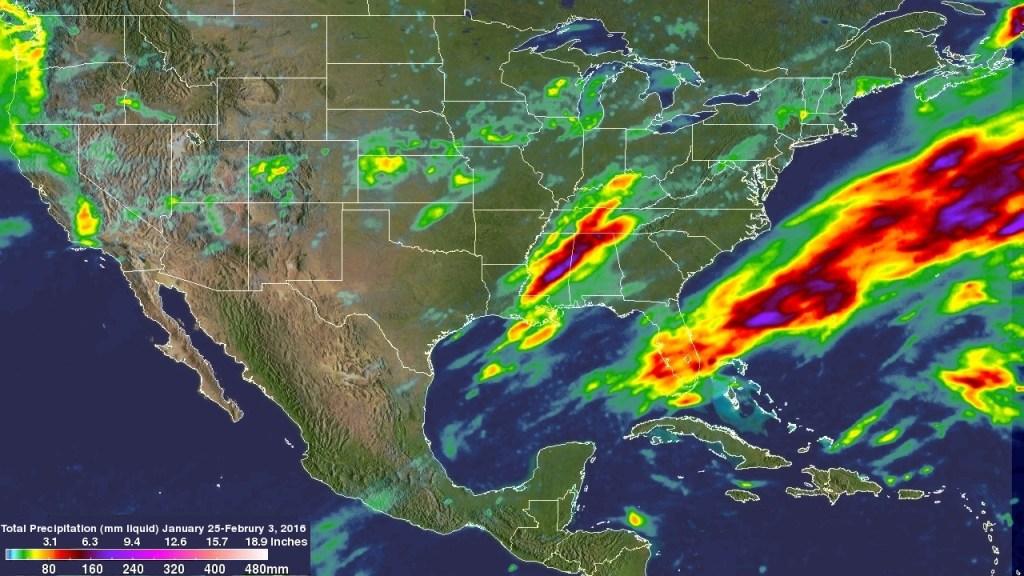 nasa weather rain map