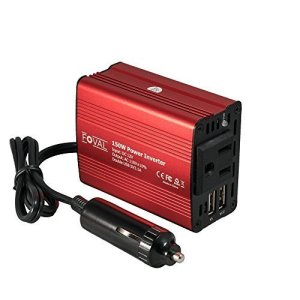 150W Car Power Inverter with Dual USB Charger by Foval