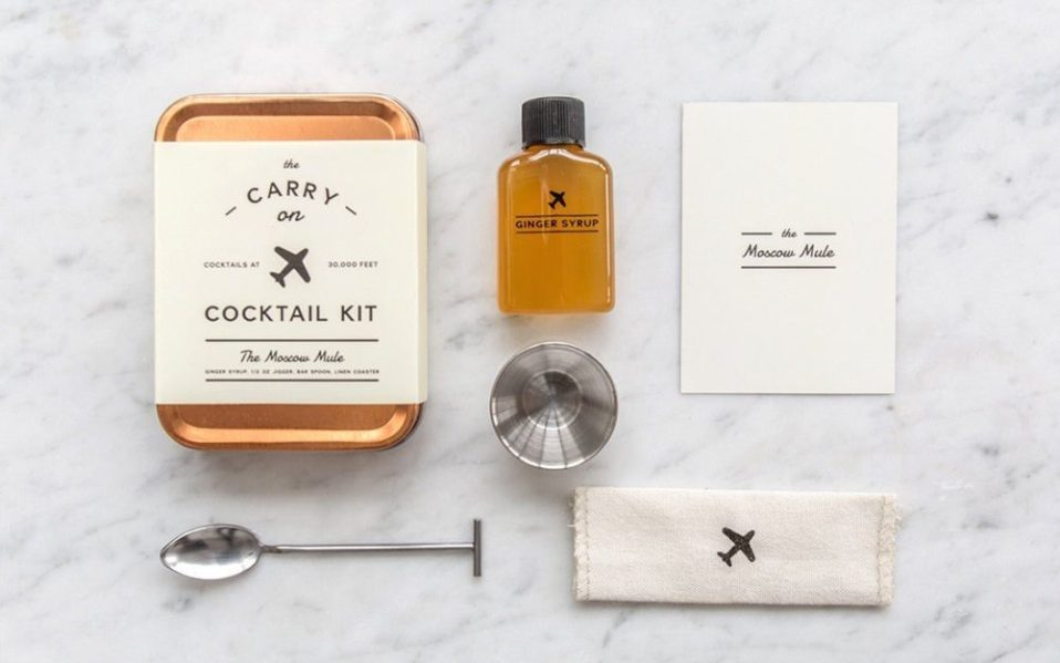 in flight cocktail kits