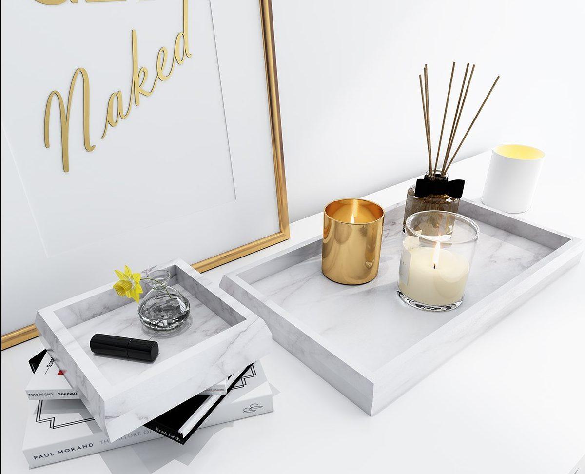 Marble vanity tray amazon