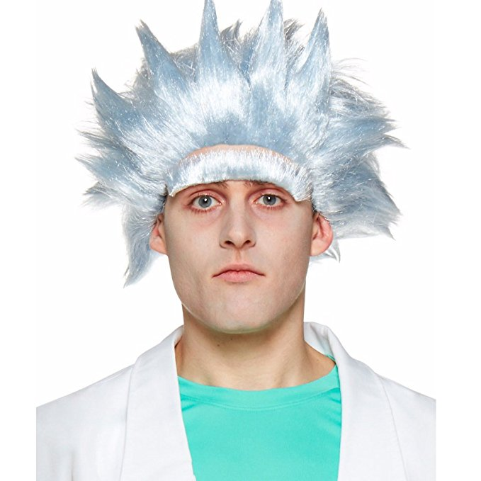 Rick and morty costume wig