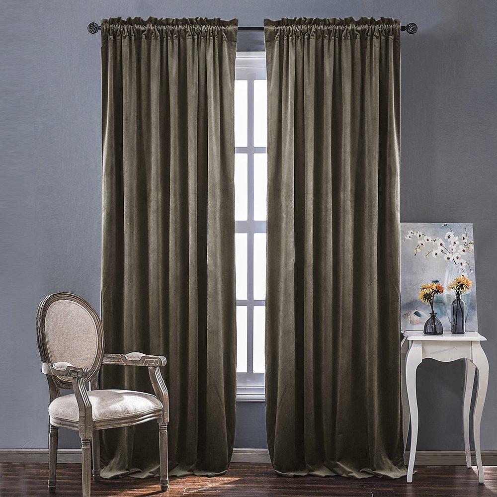Velvet curtain blinds amazon