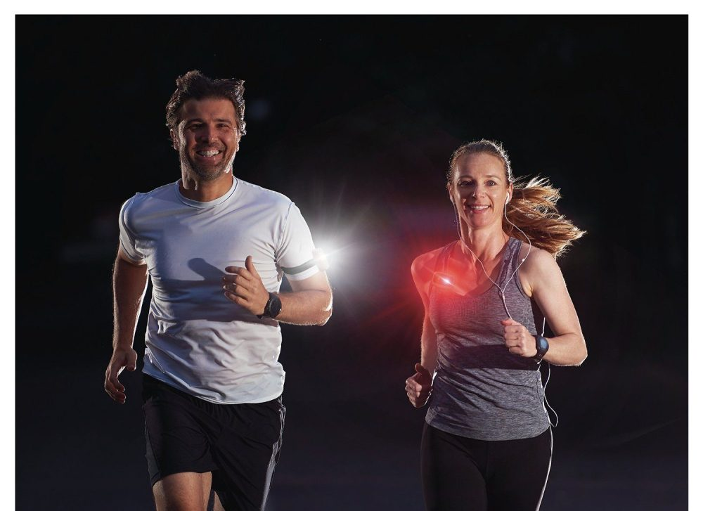 So much light from such a small package Definitely safer to be seen. VivaColors LED light Perfect for Running Walking Jogging Dog collar Camping Bike Magnetic clip on