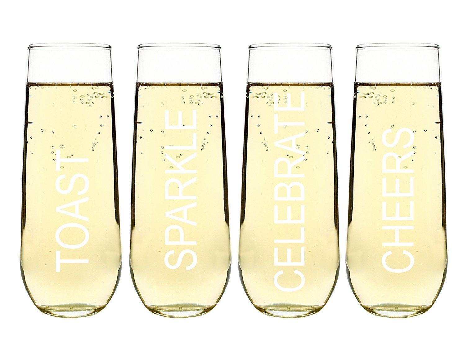 Stemless champagne glasses amazon
