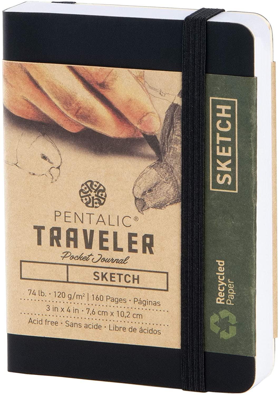 Pentalic Pocket Sketchbook Traveler Journal