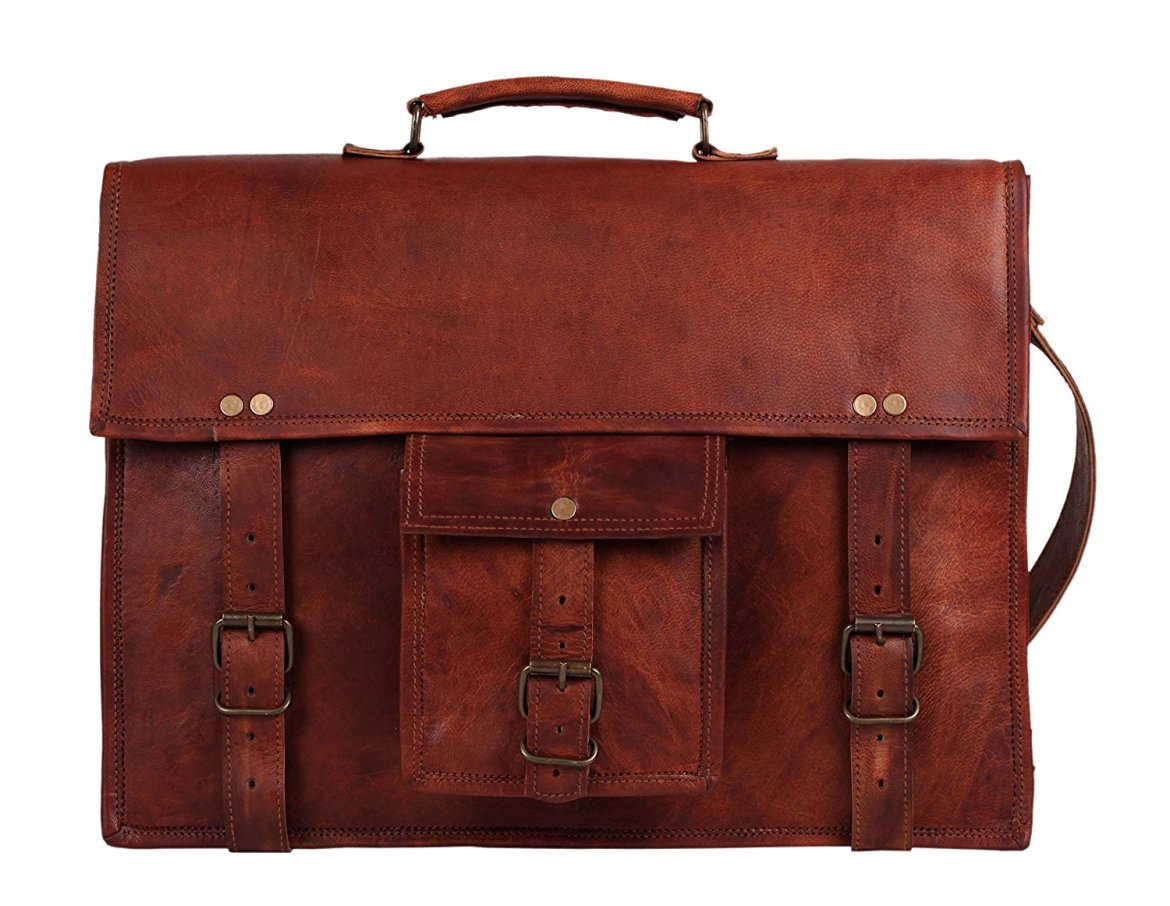 Rustic town goat leather messenger bag amazon