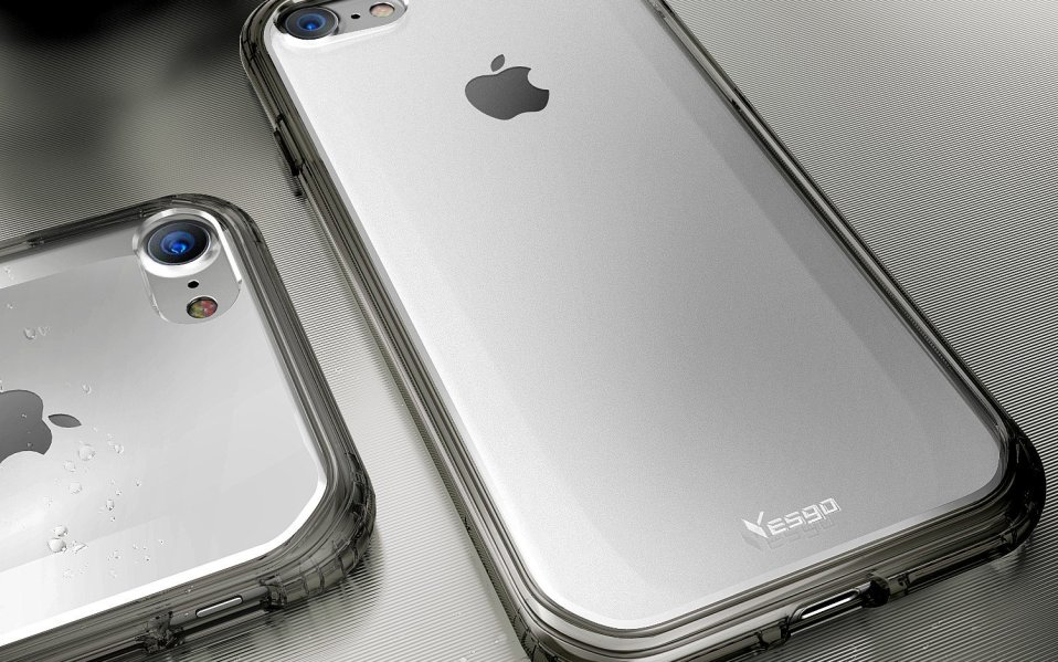 Silver iPhone 8 case