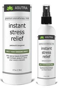 Instant stress relief spray