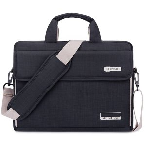 Brinch Unisex Oxford Laptop Sleeve Messenger Shoulder Bag
