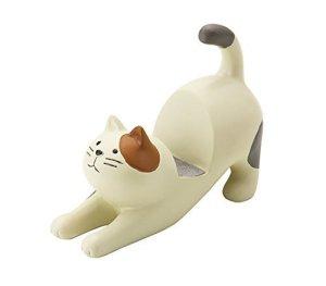 Cream Cat Smartphone Stand by Decole- Concombre