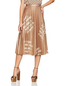 Dear Drew by Drew Barrymore Women's Lexington Ave Pleated Metallic Skirt