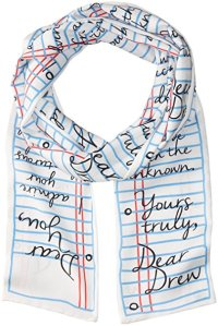 Dear Drew by Drew Barrymore Women's Love Letter Long Skinny Scarf