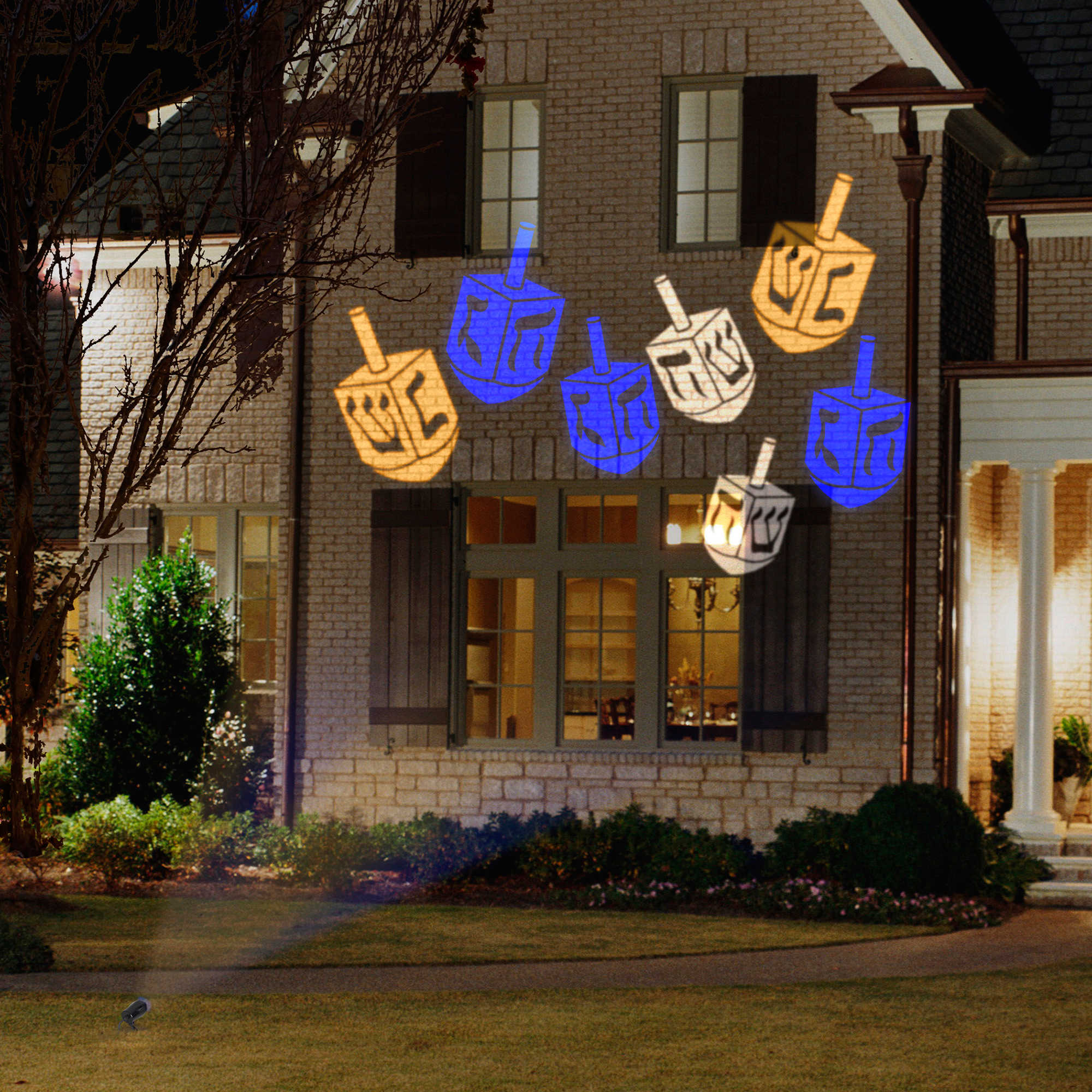 outdoor christmas lights unique lighting options for the holidays hanukkah dreidel lights