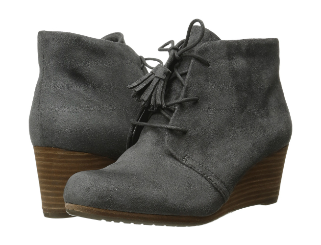 Dr. Scholl's Grey Microsuede Wedge Boot