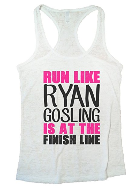 run like ryan gosling waiting at finish line