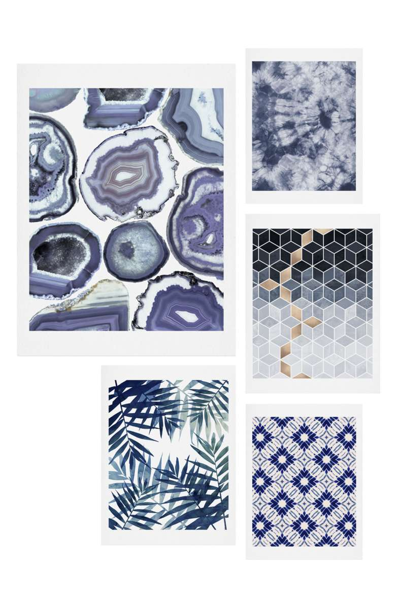 wall decor fresh new ways to decorate your walls five piece blue