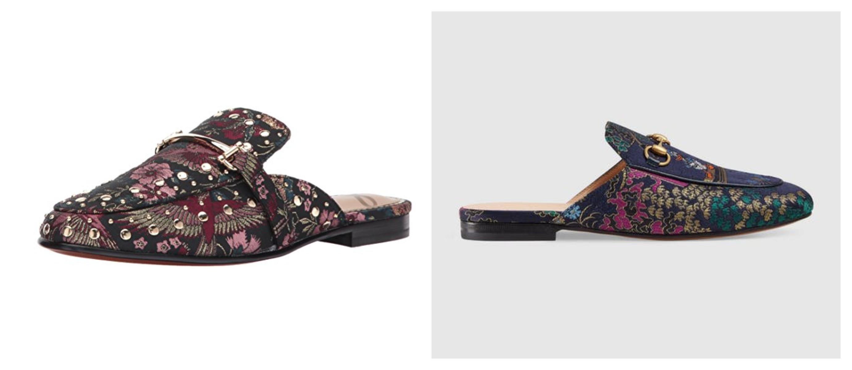 Jacquard Gucci slide dupe