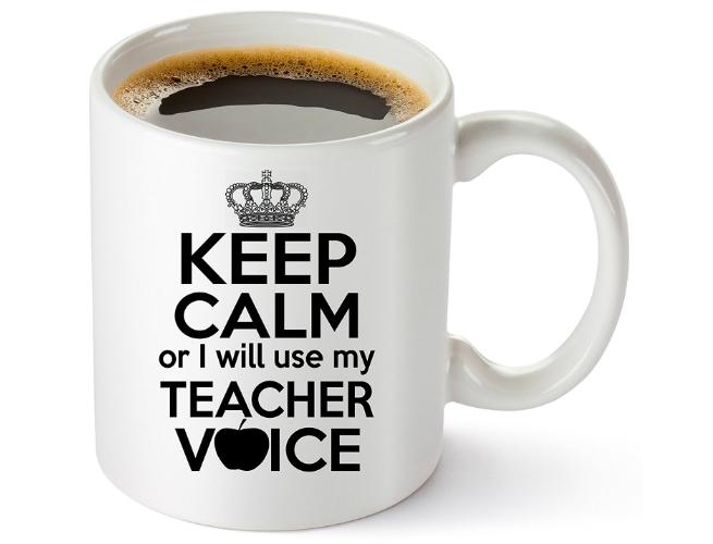 Keep Calm Teacher Mug