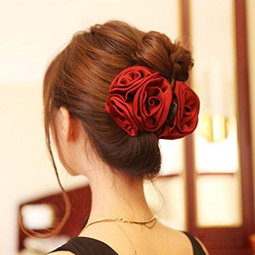 Korean Beauty Flower Bow Jaw Clip Barrette