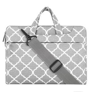 Mosiso Quatrefoil Style Canvas Fabric Laptop Bag