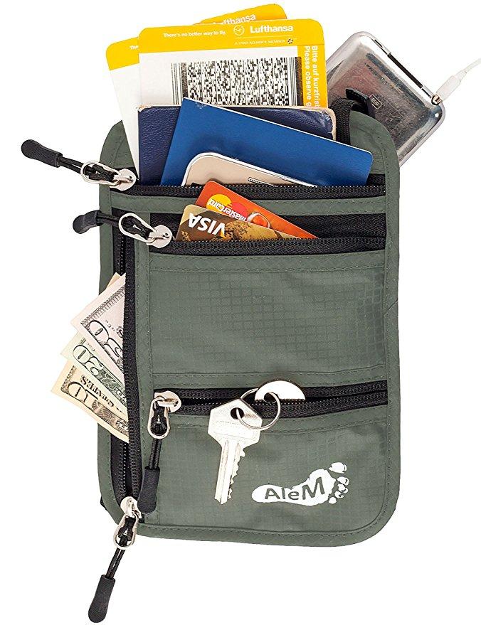 anti theft backpack travel safe bags passport holder neck wallet