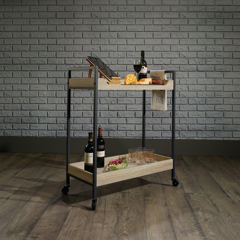 bar cart best cocktail serving carts under $100 wooden 2 tier