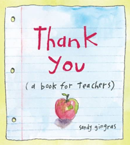 Thank You book for teachers, best gifts for teachers