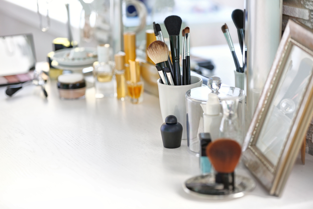 Pretty beauty products top shelf