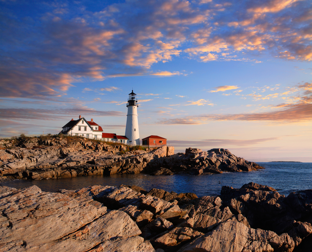 Portland Maine Lighthouse tower