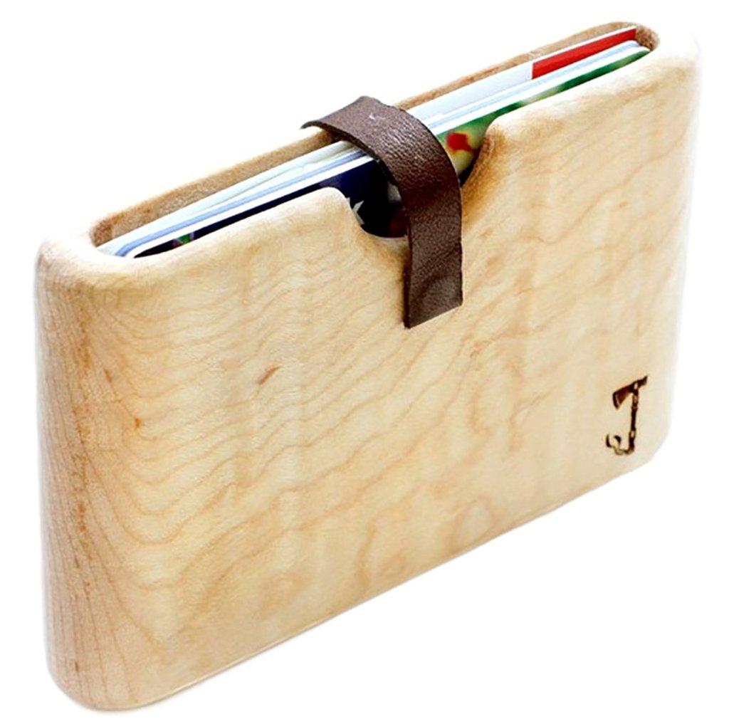 slim timber wood wallet