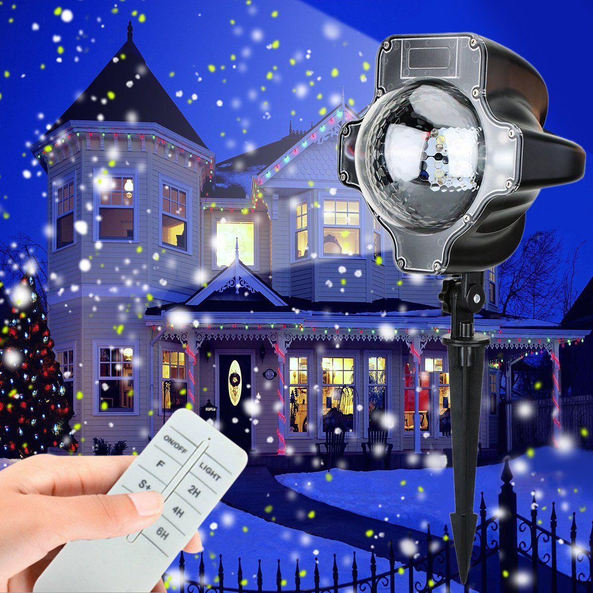 outdoor christmas lights unique lighting options for the holidays snow projector