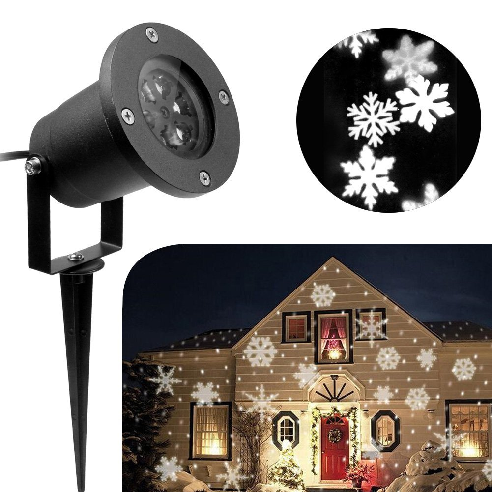 outdoor christmas lights unique lighting options for the holidays snowflake projector