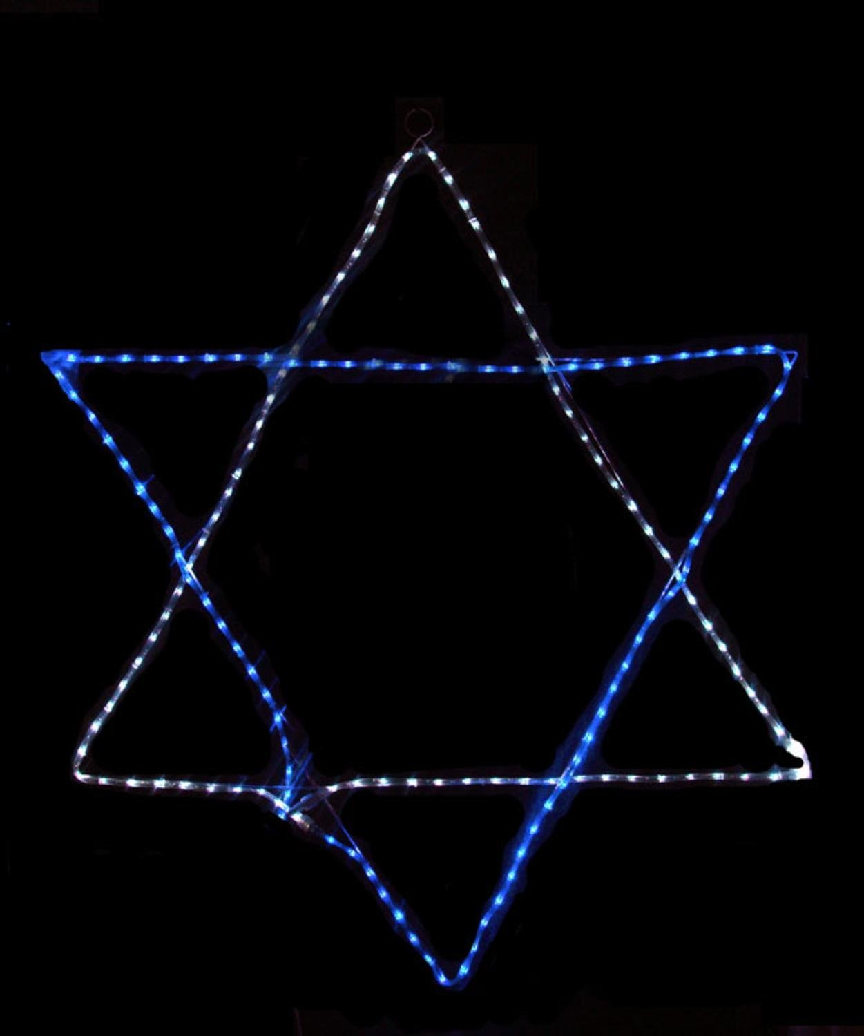outdoor christmas lights unique lighting options for the holidays star of david blue and white rope lights