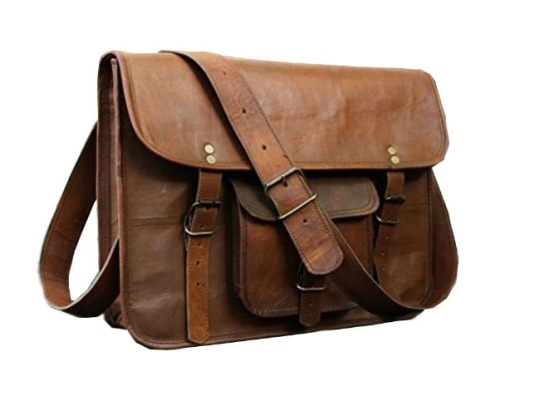 HCL leather laptop messenger bag amazon