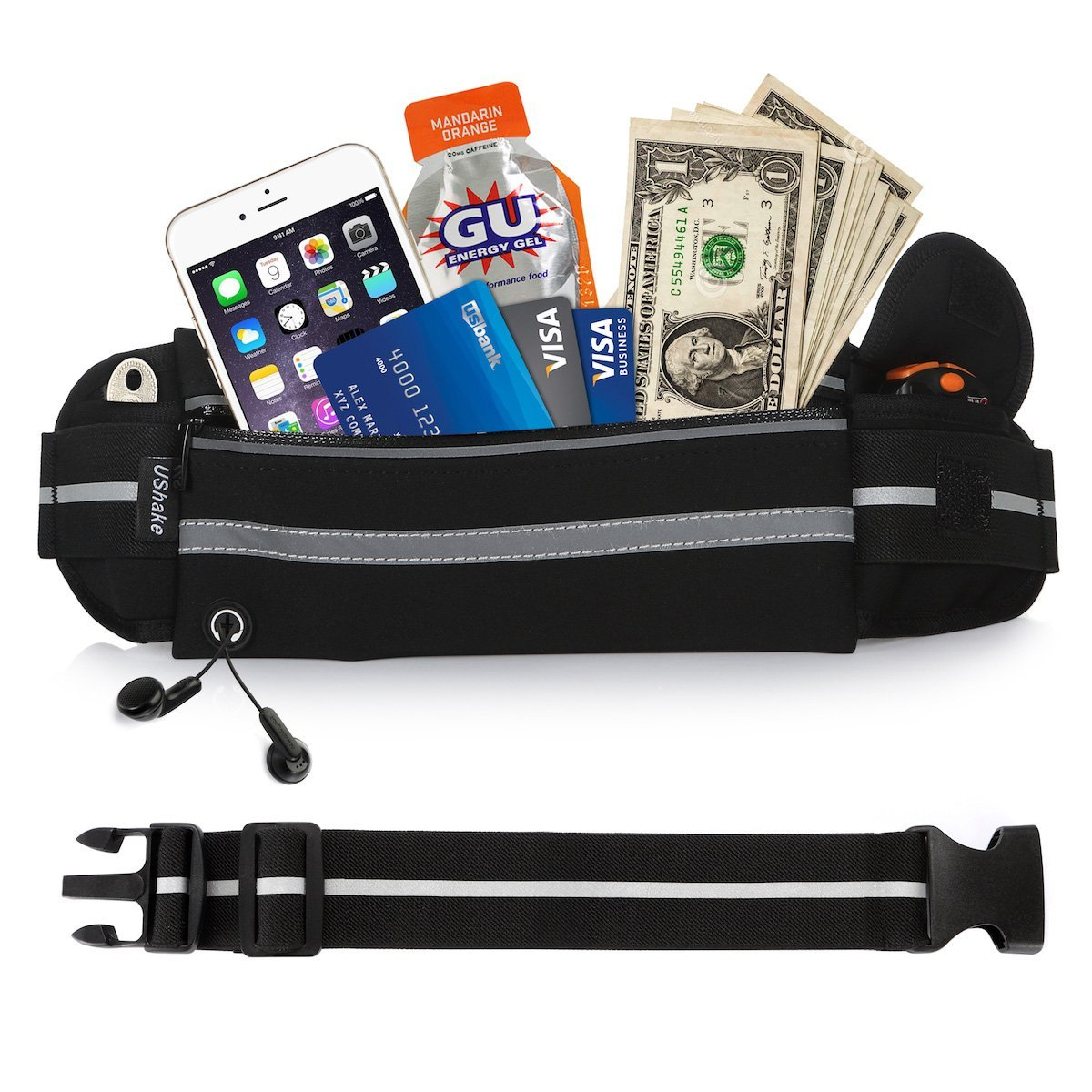 running band 7 best carry essentials on the run ushake belt