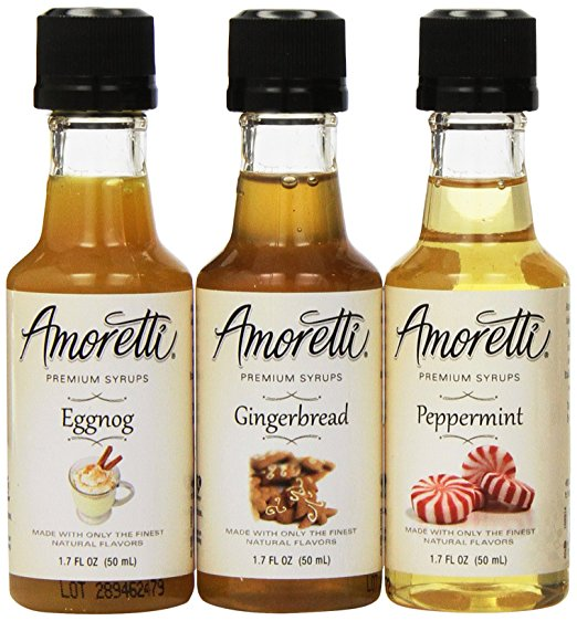 3-Pack Premium Christmas Syrups by Amoretti