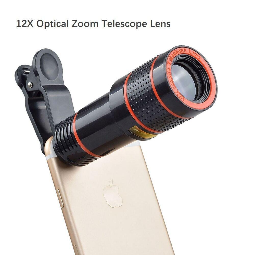 Telephoto lens smartphone clip-on