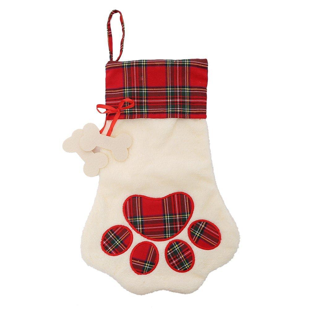 Large Paw Christmas Stocking